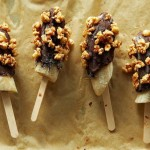 Frozen Bananas Dipped in Mexican Chocolate Ganache and Spicy Honeyed Peanuts