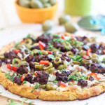 cauliflower pizza crust from the healthy foodie